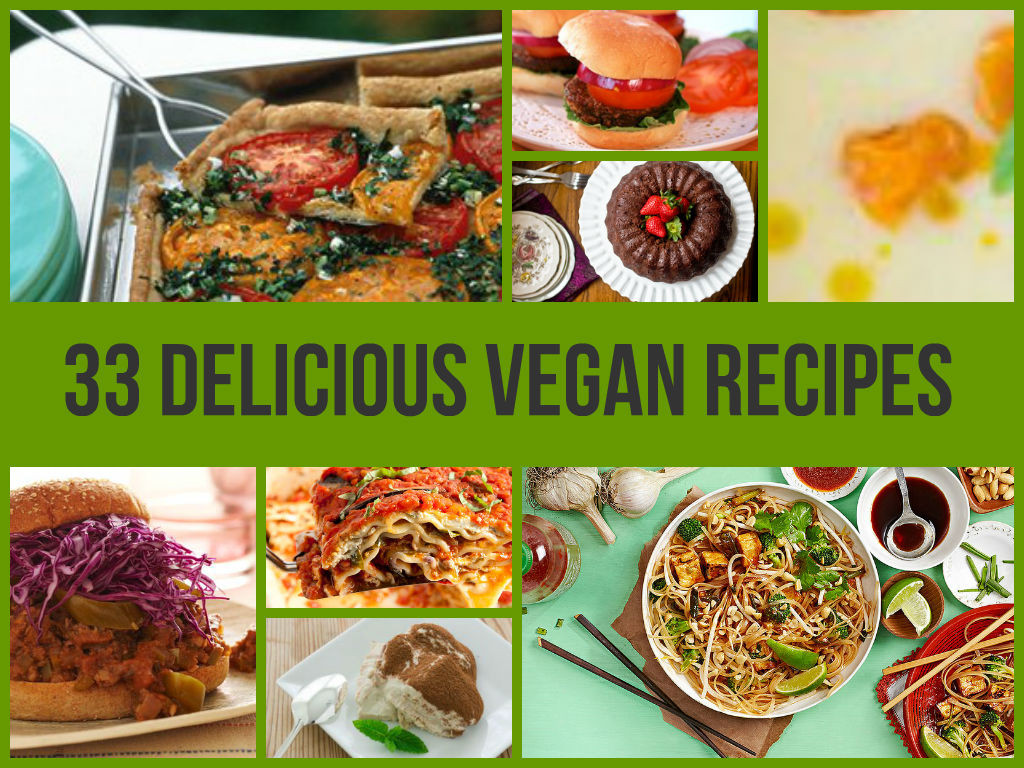 Delicious Healthy Vegetarian Recipes  33 Delicious Vegan Recipes
