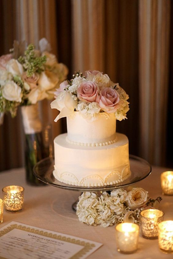 Delicious Wedding Cakes  Wedding 2 Tier Cake Inspiration – WeddCeremony