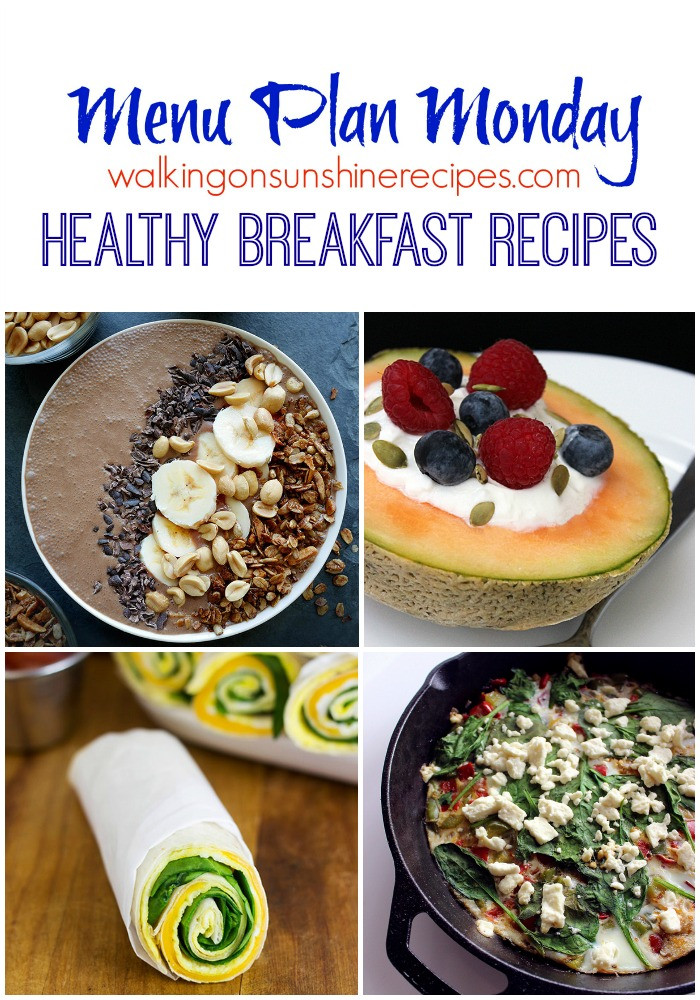 Denny'S Healthy Breakfast Menu  Menu Plan Monday Healthy Breakfast Recipes Walking