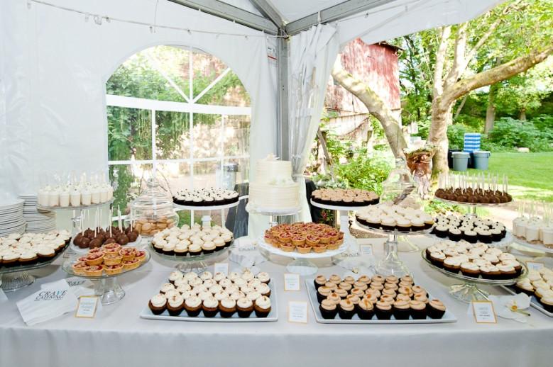 Dessert Table Weddings  cocoa & fig Elegant Outdoor Wedding Dessert Table Maggie