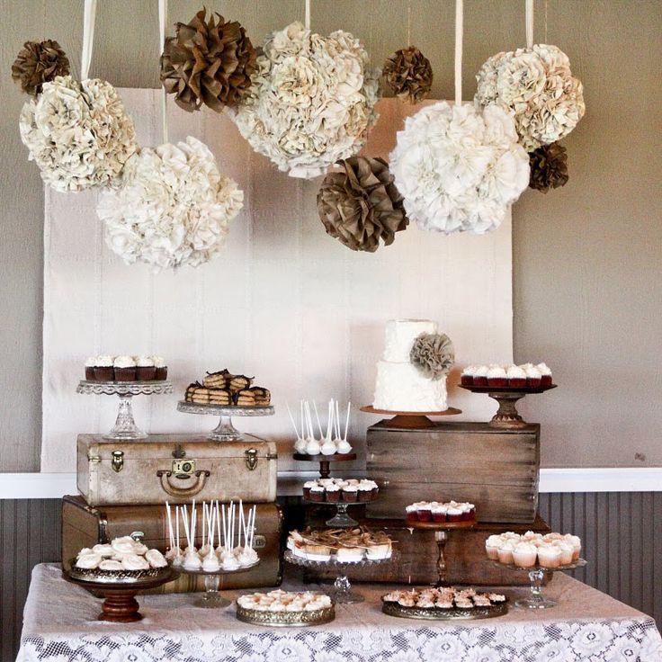 Dessert Table Weddings  Planning a DIY Wedding 5 Simple Dessert Table Ideas