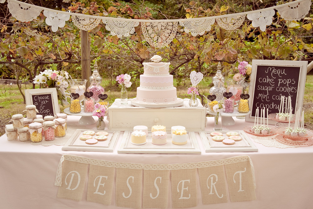 Dessert Table Weddings  Wedding Dessert Table and the Whole of Decoration