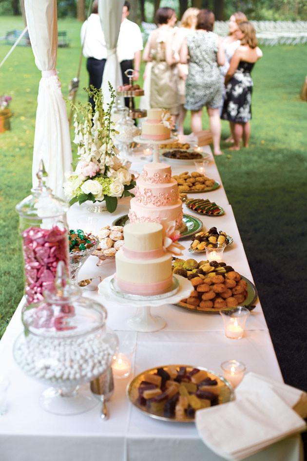Dessert Wedding Reception  Jevon s blog Great care has been taken in preparing our