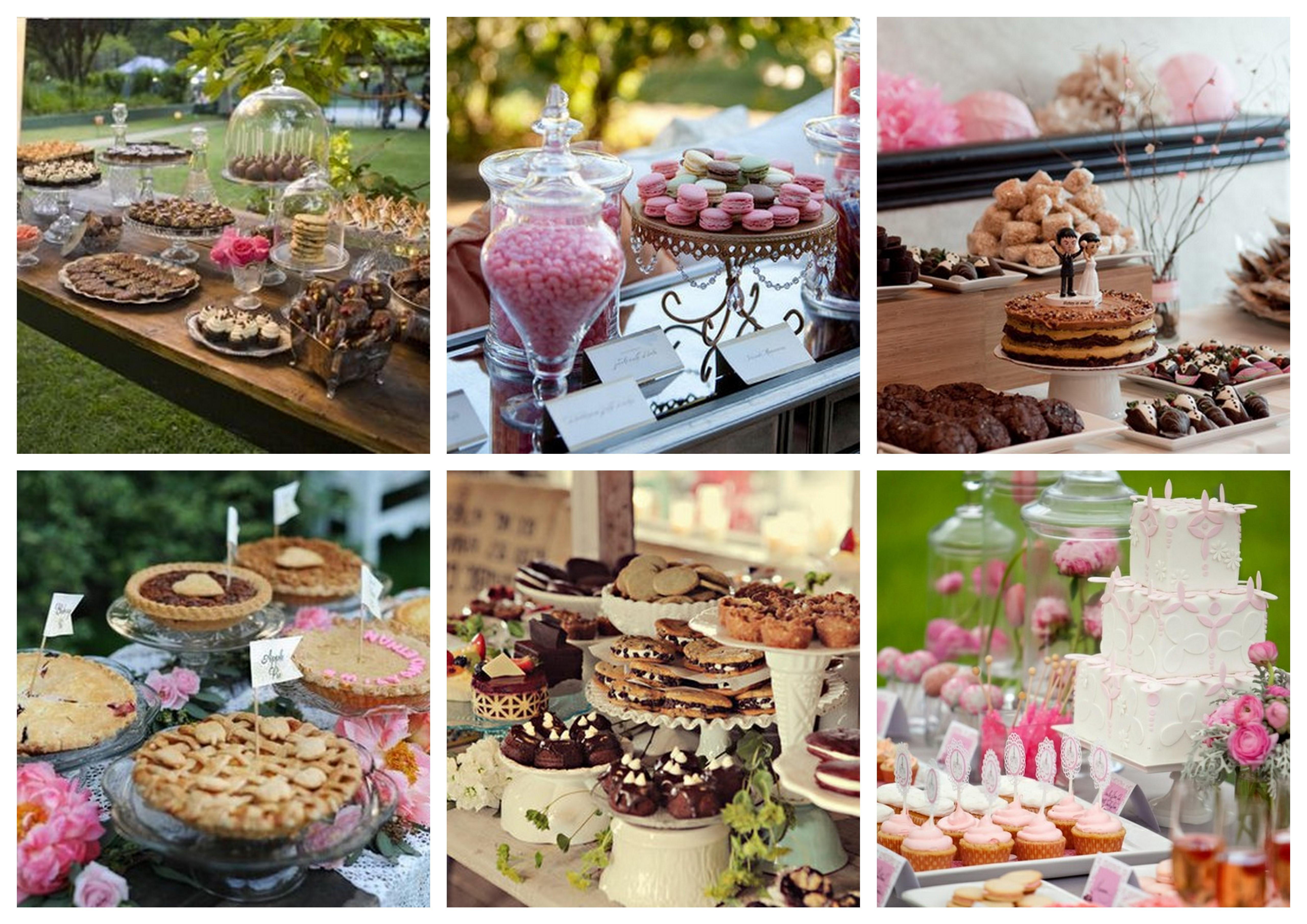 Dessert Wedding Reception  table settings thebridesmaidandthebride