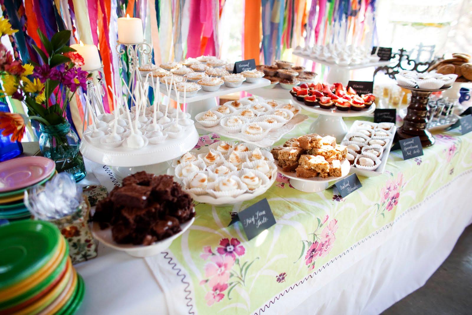 Dessert Wedding Reception  Ask Cynthia  Wedding Inspirations