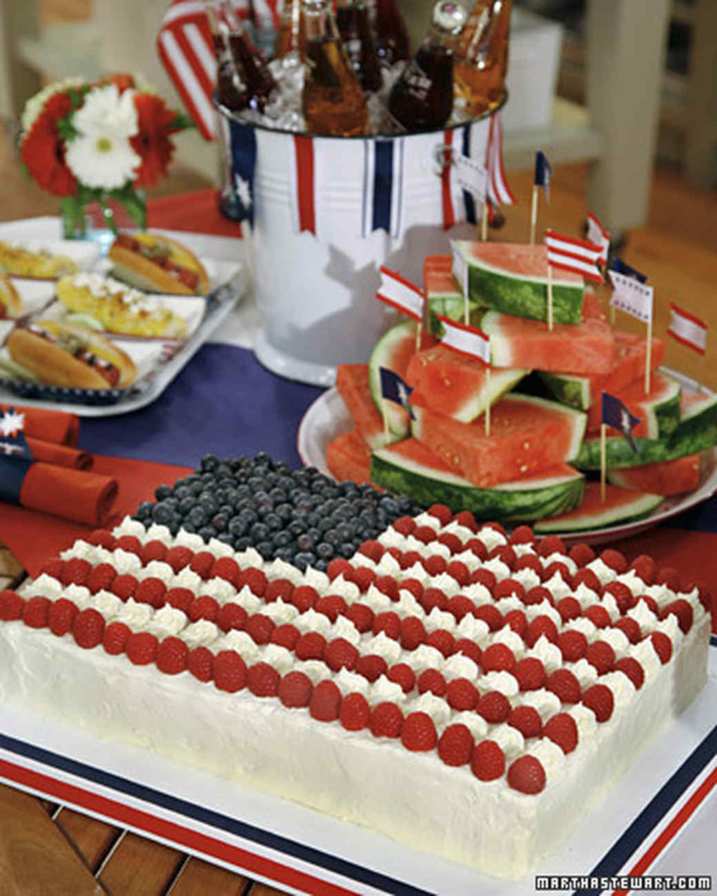 Desserts For 4Th Of July Party  Flag Sheet Cake Recipe & Video