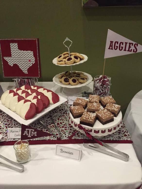 Desserts For Graduation Parties  Graduation party décor dessert table Texas A&M