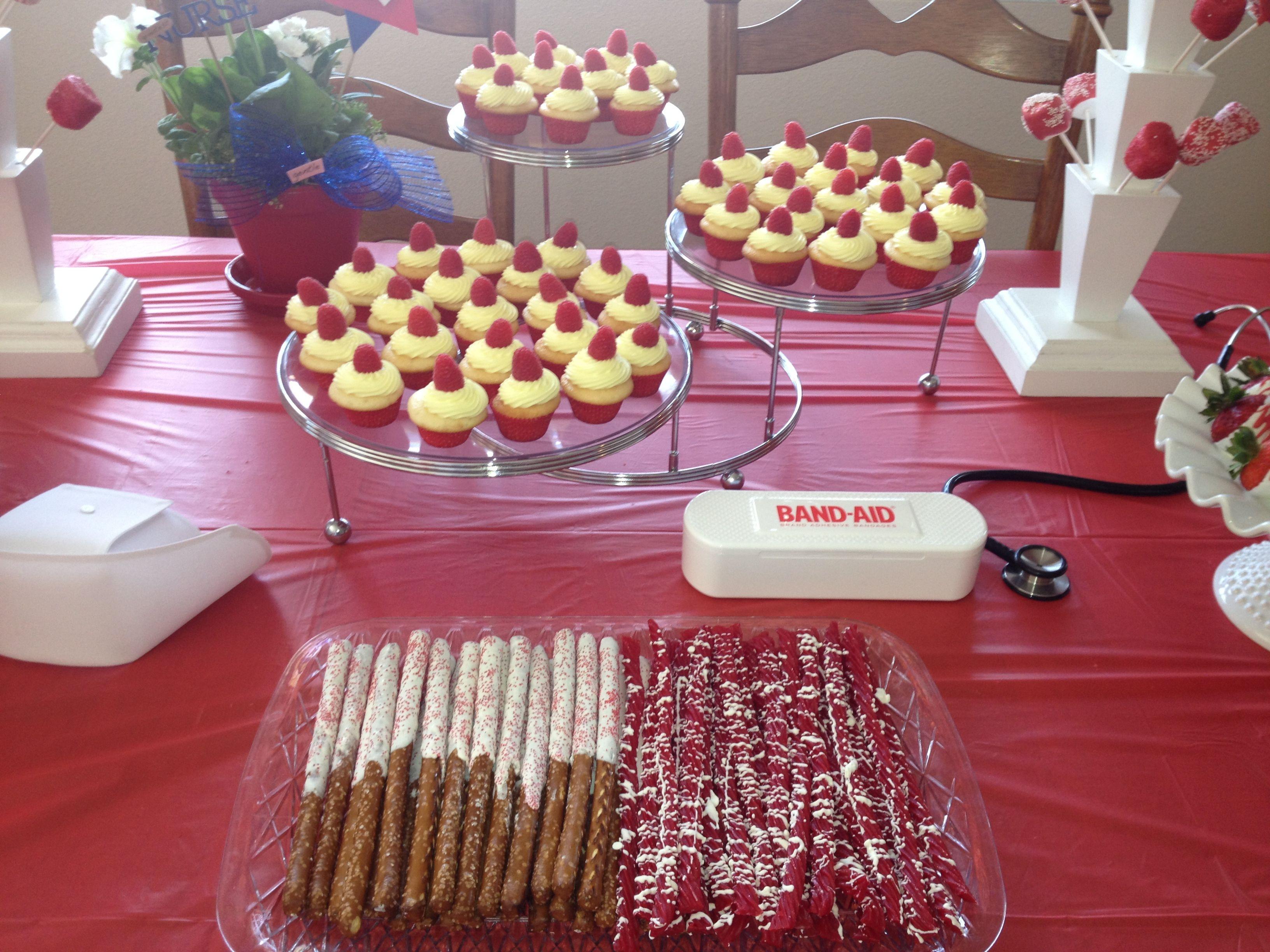Desserts For Graduation Parties  Dessert table for nursing graduation party