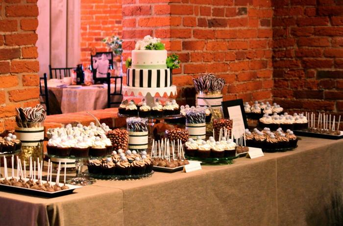 Desserts For Wedding Receptions  Kari & Tim s Wedding Cake & Dessert Table