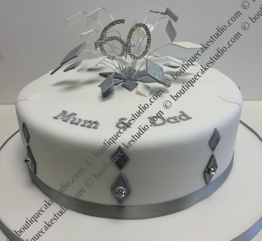 Diamond Wedding Cakes  Cake Maker Upminster PME Diploma Es Cake Supplies
