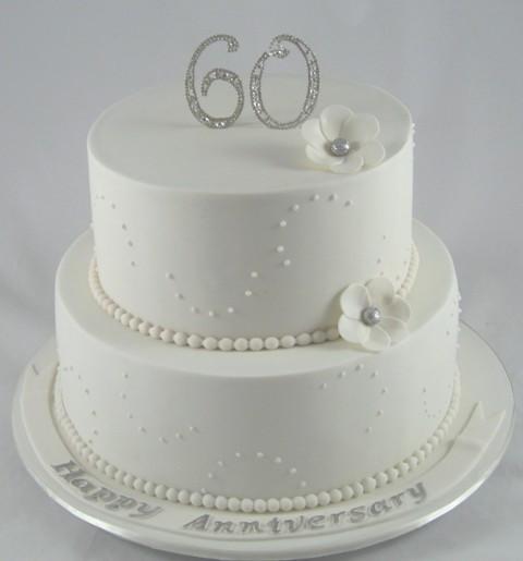 Diamond Wedding Cakes  60th Diamond Wedding Anniversary Cake Decoration Idea