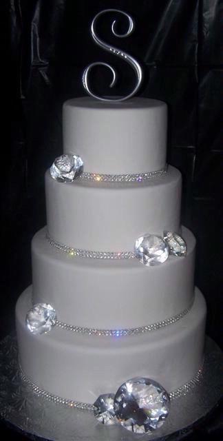 Diamond Wedding Cakes  Wedding Cake Bling Beautiful Cakes That Sparkle & Shine