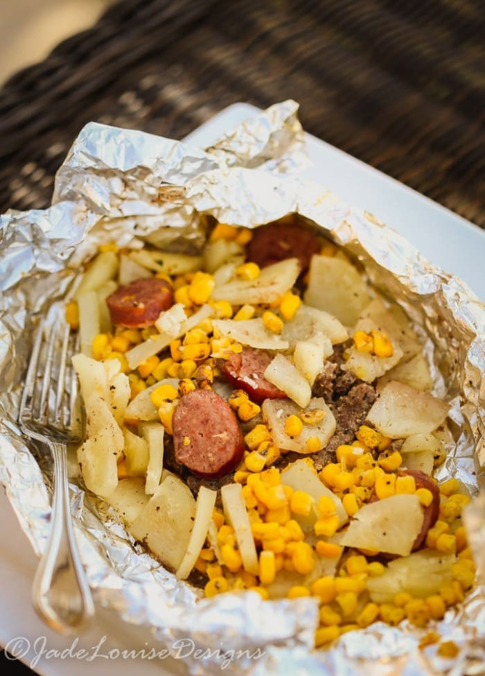 Dinner Ideas For Camping  Easy Hobo Dinner Tin Foil Dinner perfect for the whole