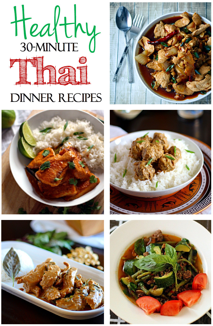 Dinner Recipe Healthy  Healthy 30 Minute Thai Dinner Recipes The Wanderlust Kitchen