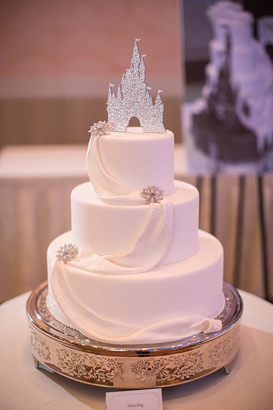 Disney Wedding Cakes  Silver Wedding Cake Decorations