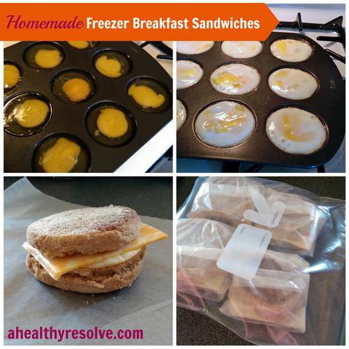Diy Healthy Breakfast  Homemade Freezer Breakfast Sandwiches