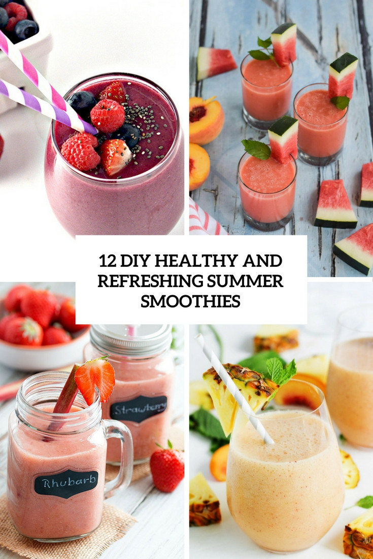 Diy Healthy Smoothies  12 DIY Healthy And Refreshing Summer Smoothies Shelterness
