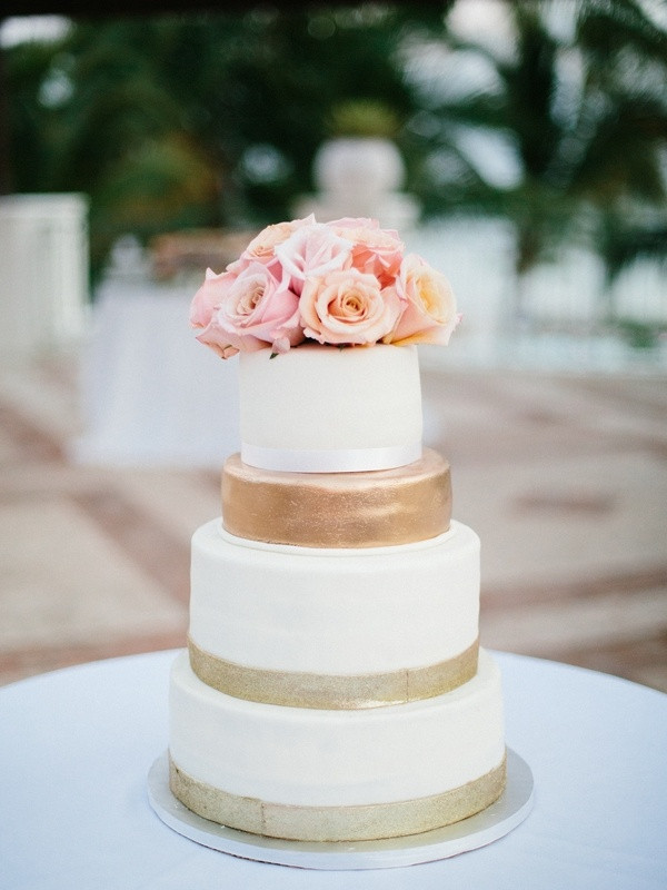 Dominican Wedding Cakes  Cakes & Desserts s Gold Ivory and Blush Wedding