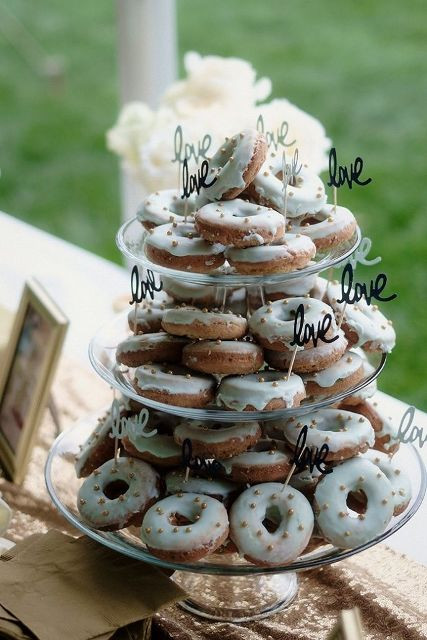 Donut Wedding Cakes  Picture Sweet Wedding Donut Ideas And Ways To Display
