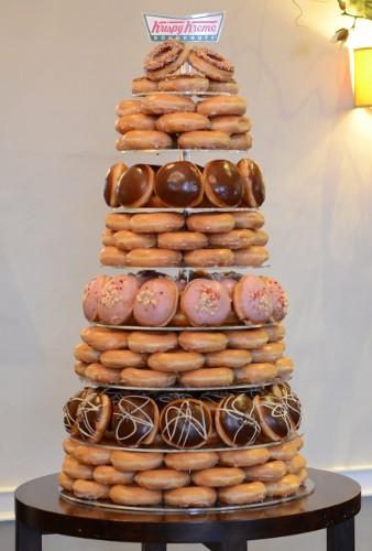 Donut Wedding Cakes  Wedding line Cakes The Krispy Kreme wedding cake is