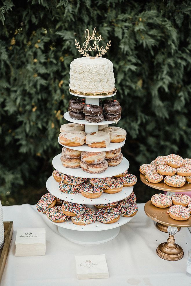 """Donut Wedding Cakes  Wedding Cake Donuts Just Say """"Yes"""""""