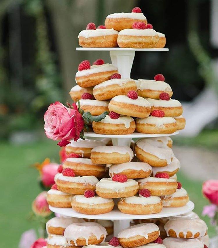 Donut Wedding Cakes  Wedding donut tier instead of wedding cake 🍩