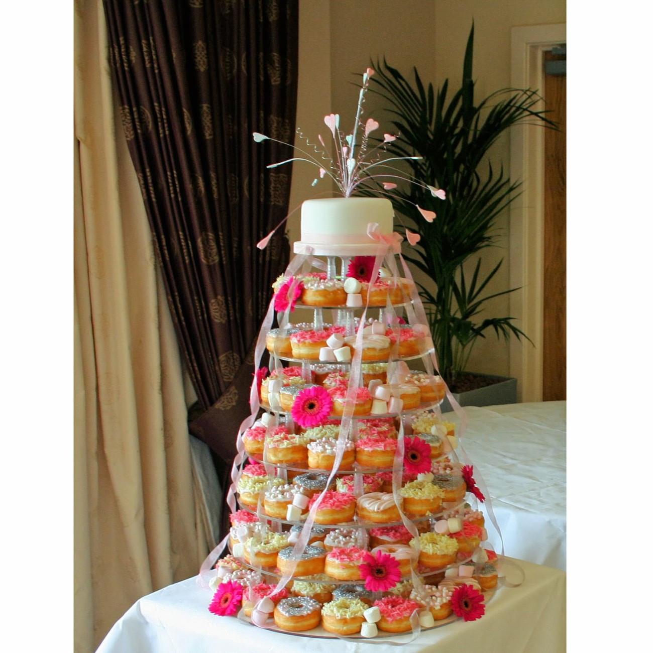 Donut Wedding Cakes  Triangle Catering Alternative Wedding Cakes
