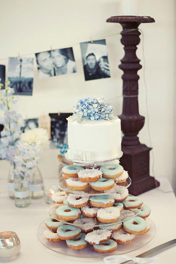 Donut Wedding Cakes  doughnut wedding cake photo by Kirralee Wedding