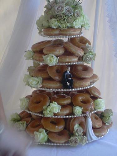 Donut Wedding Cakes  The Krispy Kreme Donut Wedding Cake kathrynlinge