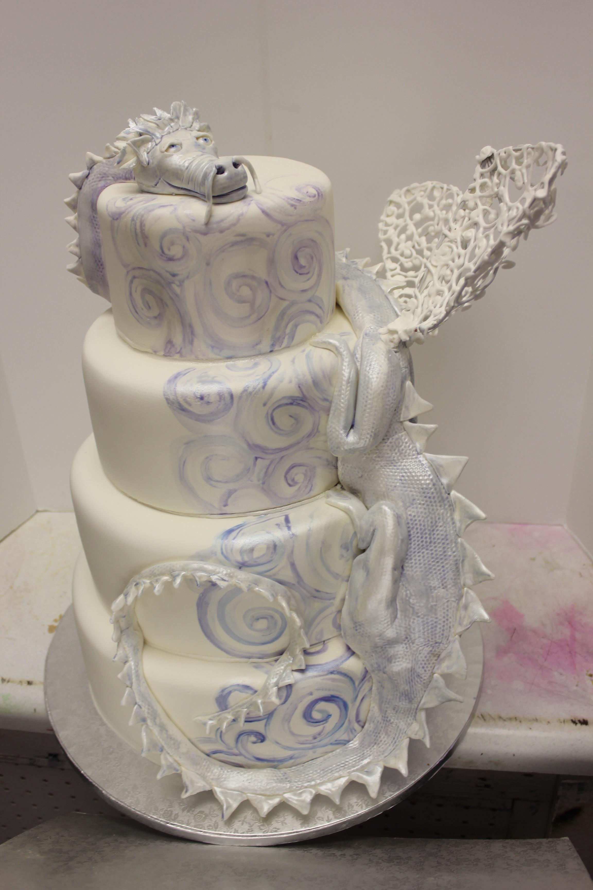 Dragon Wedding Cakes  White Dragon Wedding cake