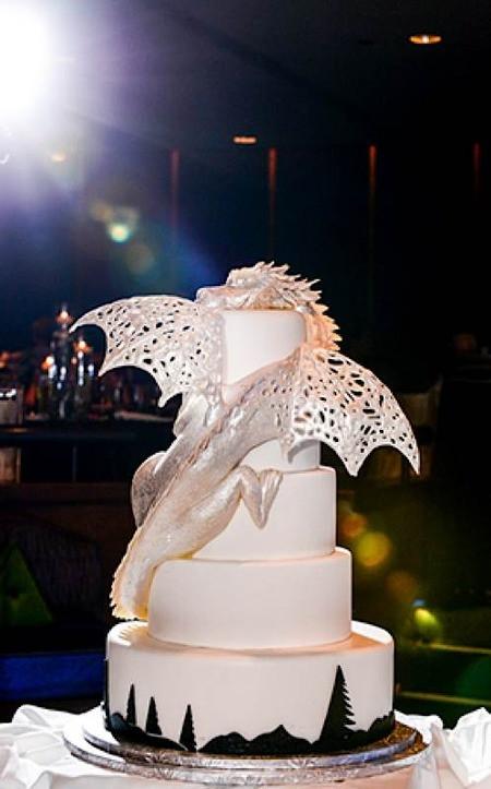 Dragon Wedding Cakes  Cake Wrecks Home Sunday Sweets Geek Chic Wedding Cakes