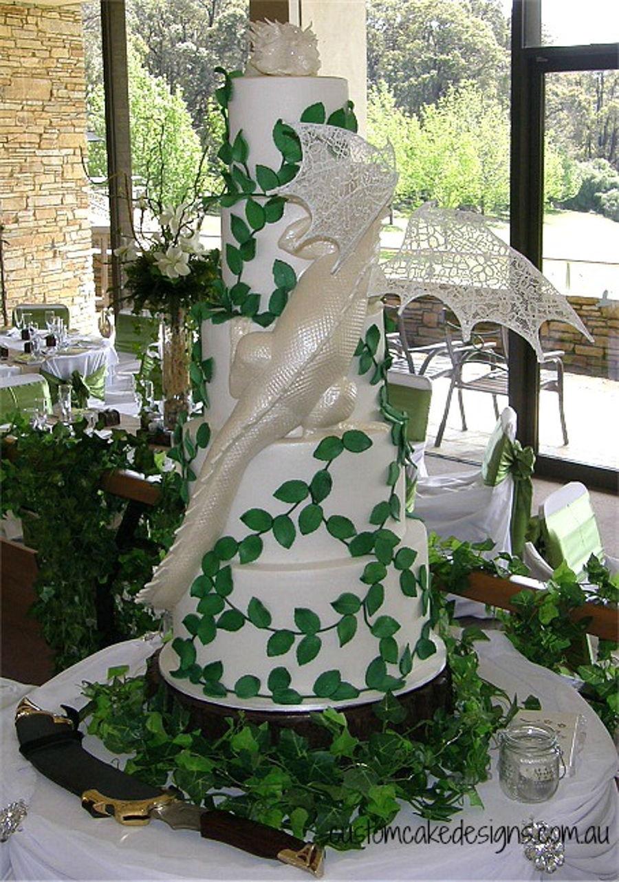 Dragon Wedding Cakes  Smaug Dragon Wedding Cake CakeCentral