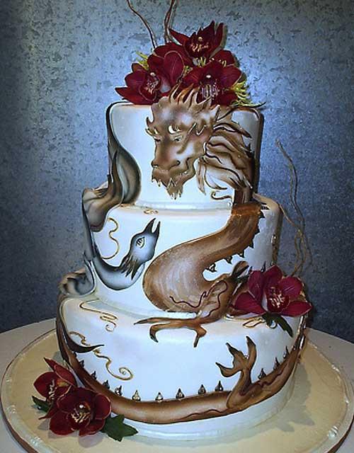 Dragon Wedding Cakes  Amazing Dragon Cake Designs