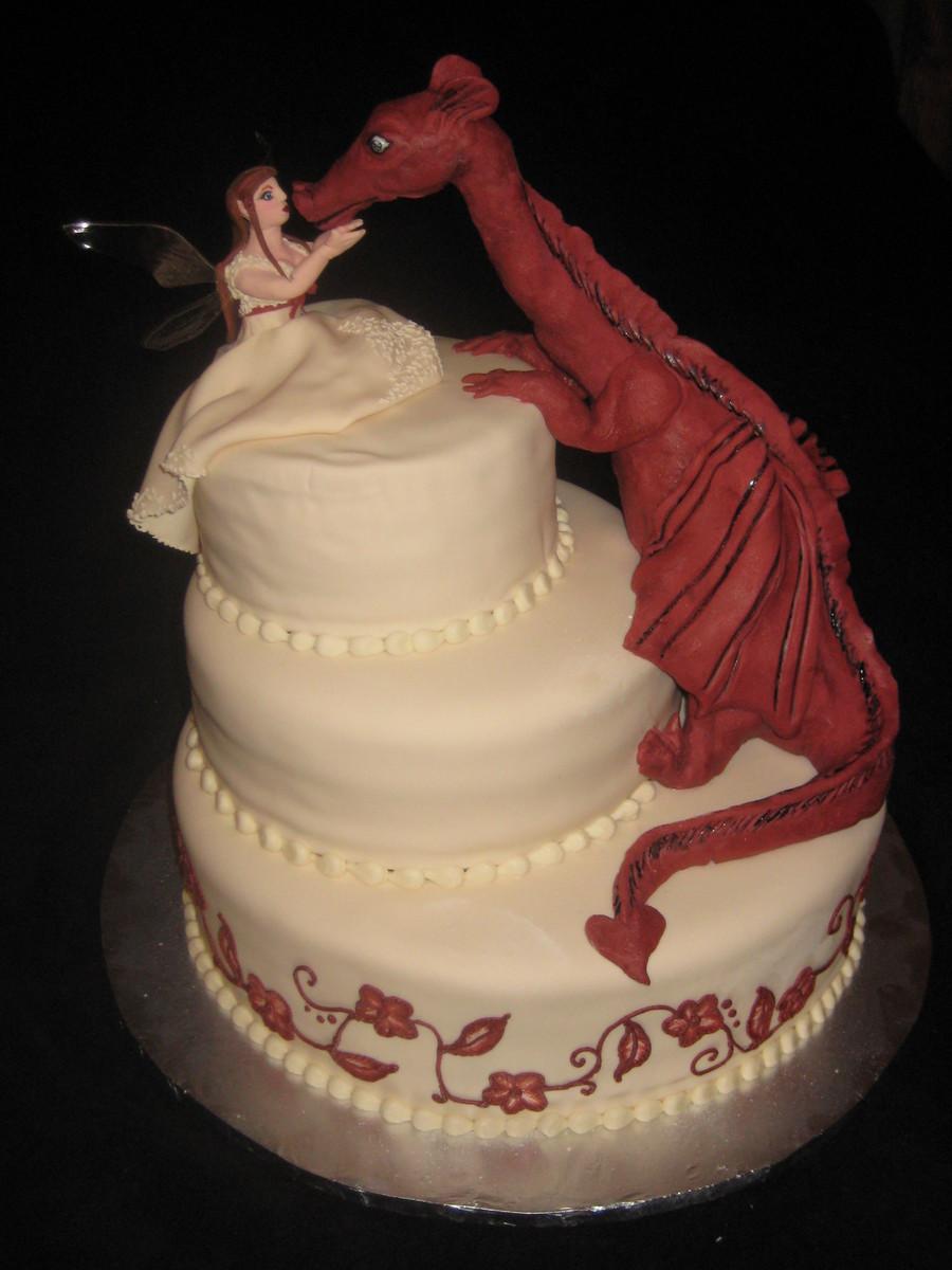 Dragon Wedding Cakes  Fairy And Dragon Wedding Cake CakeCentral