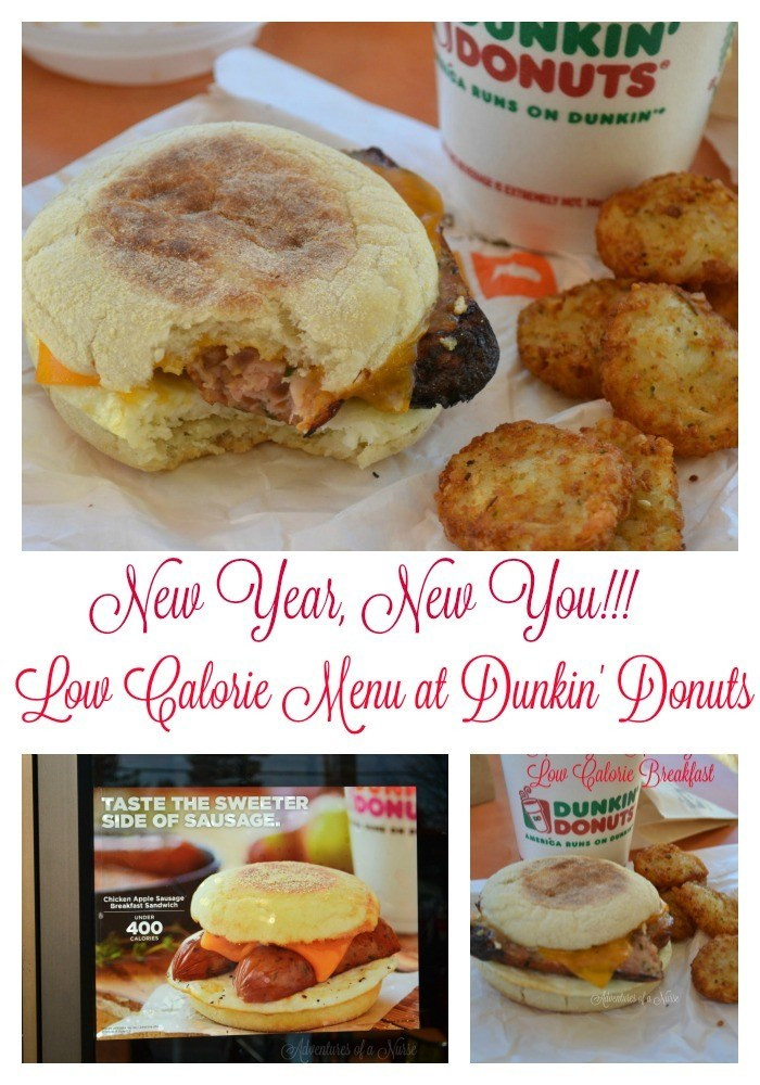 Dunkin Donuts Healthy Breakfast  New Year New You Low Calorie Menu at Dunkin Donuts