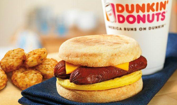 Dunkin Donuts Healthy Breakfast  Dunkin' Donuts Is Making a Breakfast Sandwich with Bacon
