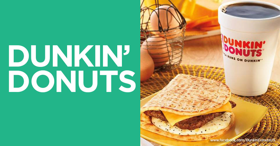 Dunkin Donuts Healthy Breakfast  Eat Up List of 7 Restaurants That fer Healthy Fast Food