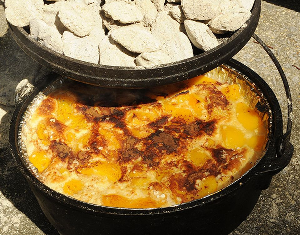 Dutch Oven Cobbler Camping  Free Dutch Oven Cooking Recipes