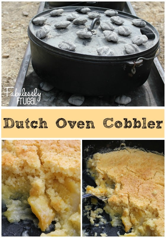 Dutch Oven Cobbler Camping  Dutch Oven Peach Cobbler Recipes Fabulessly Frugal
