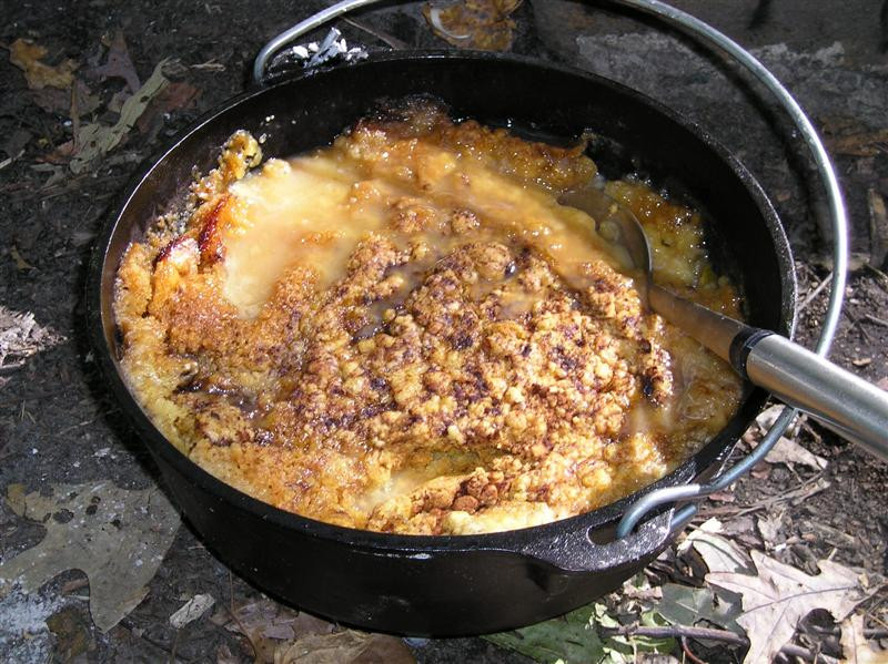 Dutch Oven Cobbler Camping  Our First Sukkot & Learning To Cook Over An Open Fire