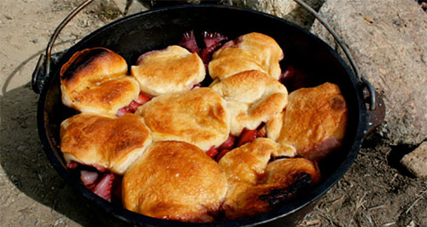 Dutch Oven Desserts Camping  Dutch Oven Peach and Berry Cobbler Recipe 50 Campfires