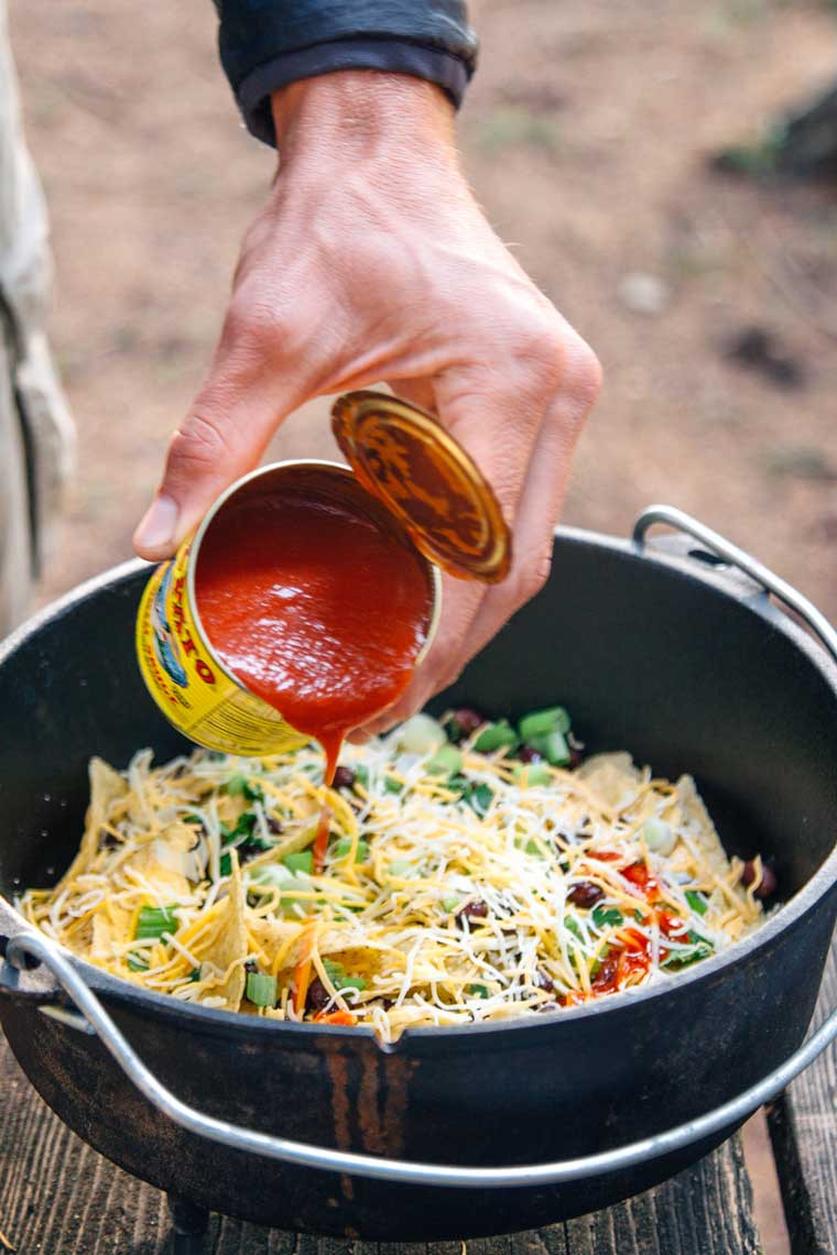 Dutch Oven Dinners Camping  How to Make Campfire Nachos Fresh f The Grid