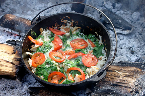 Dutch Oven Dinners Camping  Dutch Oven Hash Browns Dirty Gourmet