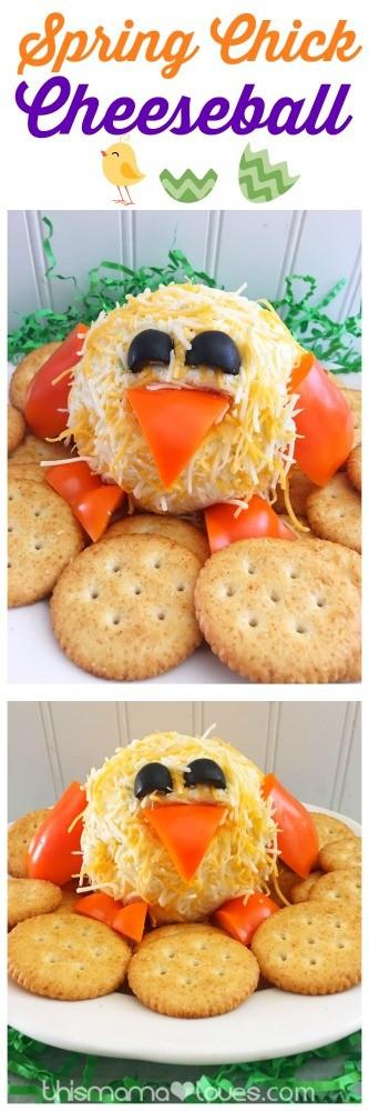 Easter Appetizers Pinterest  Easter Appetizer Chick Cheeseball Recipe