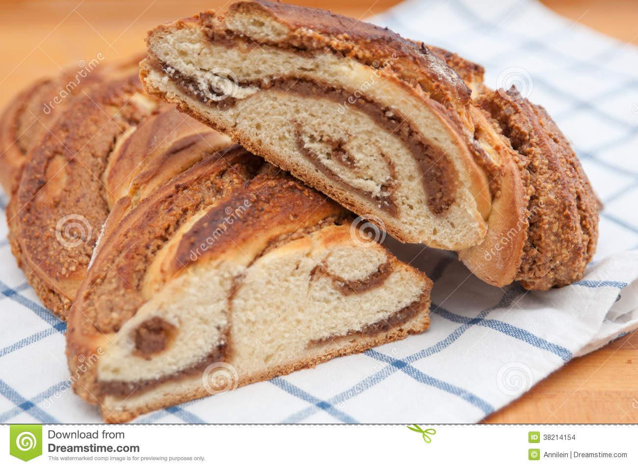 Easter Bread German  Sweet Braided German Easter Bread Stock Image
