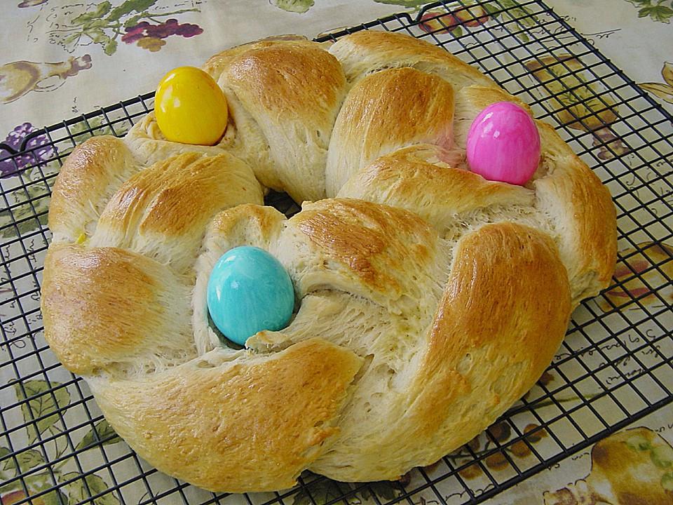 Easter Bread German  Easter Sweet Bread Wreath Authentic German • Best German