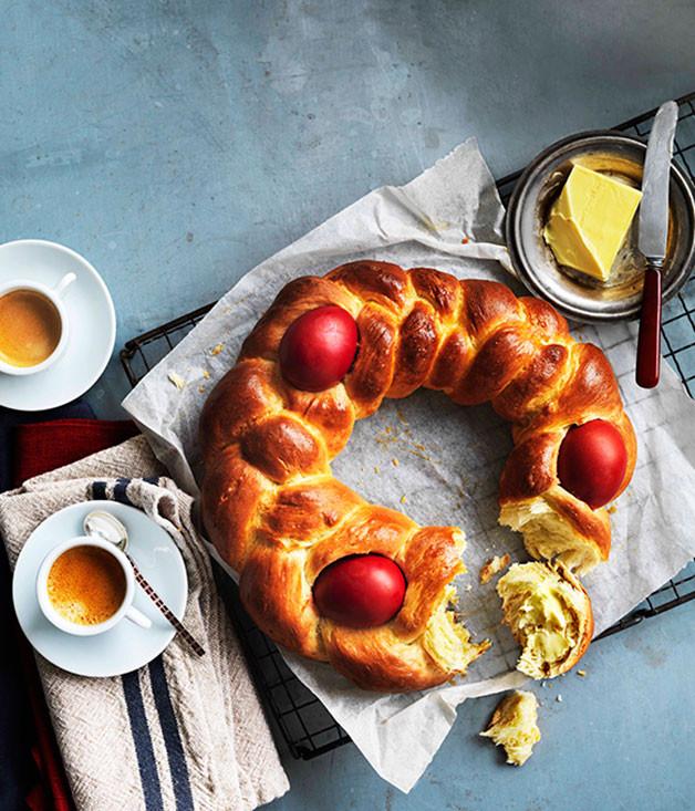 Easter Bread Greek  Greek Easter bread Tsoureki Gourmet Traveller