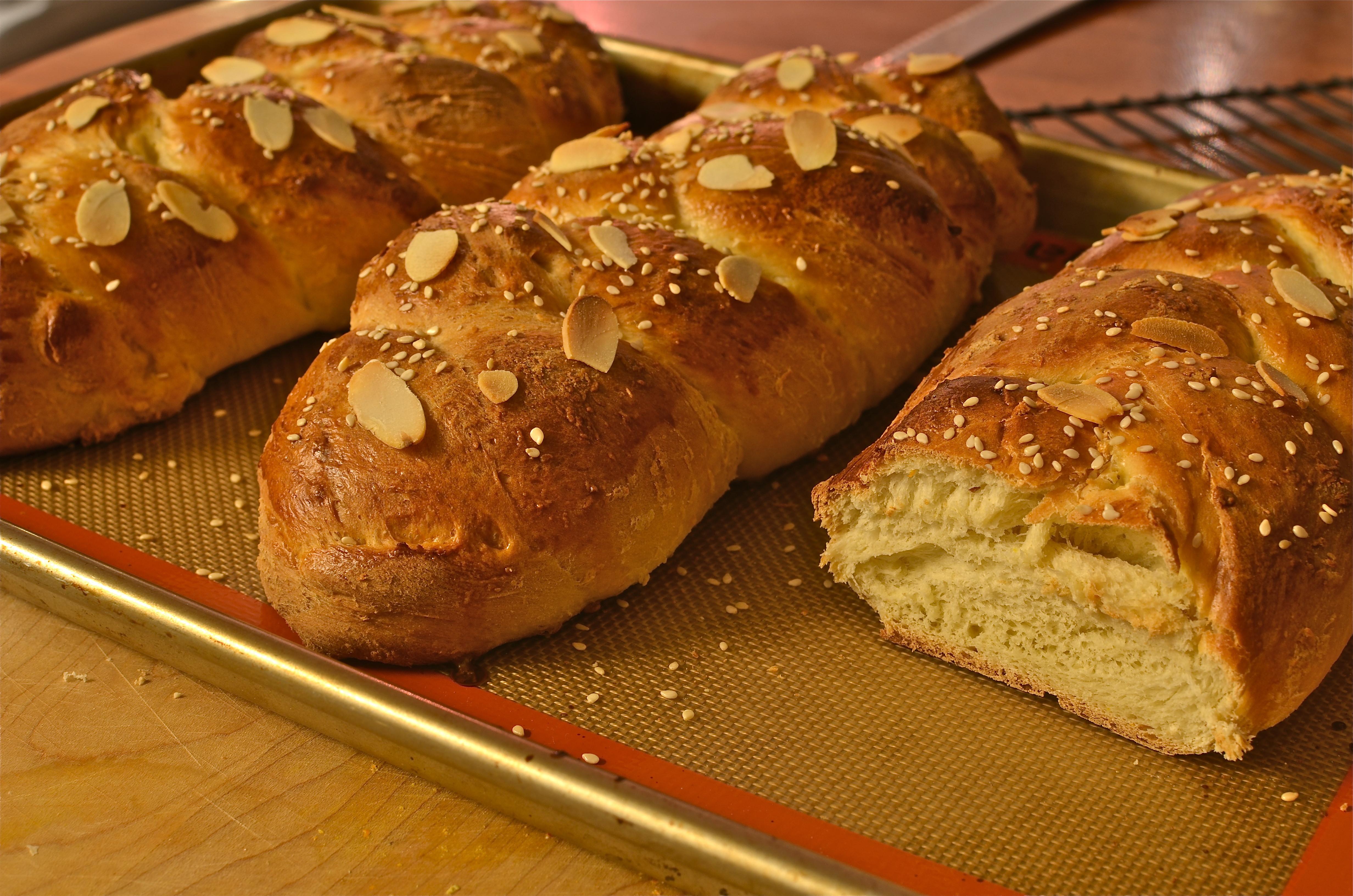 Easter Bread Greek  Tsoureki Tsourekia