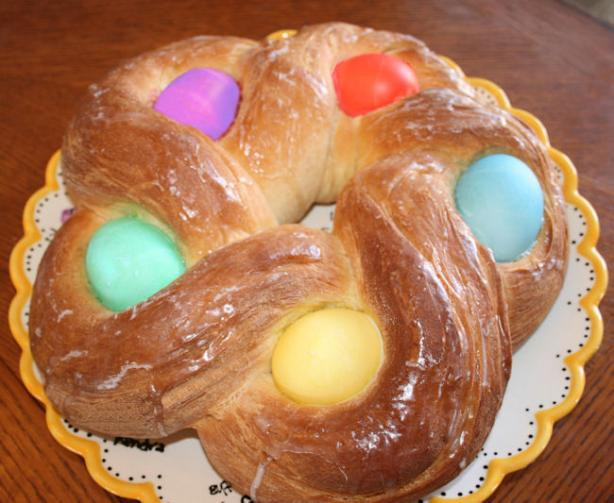 Easter Bread With Eggs  Easter Egg Bread Recipe Food