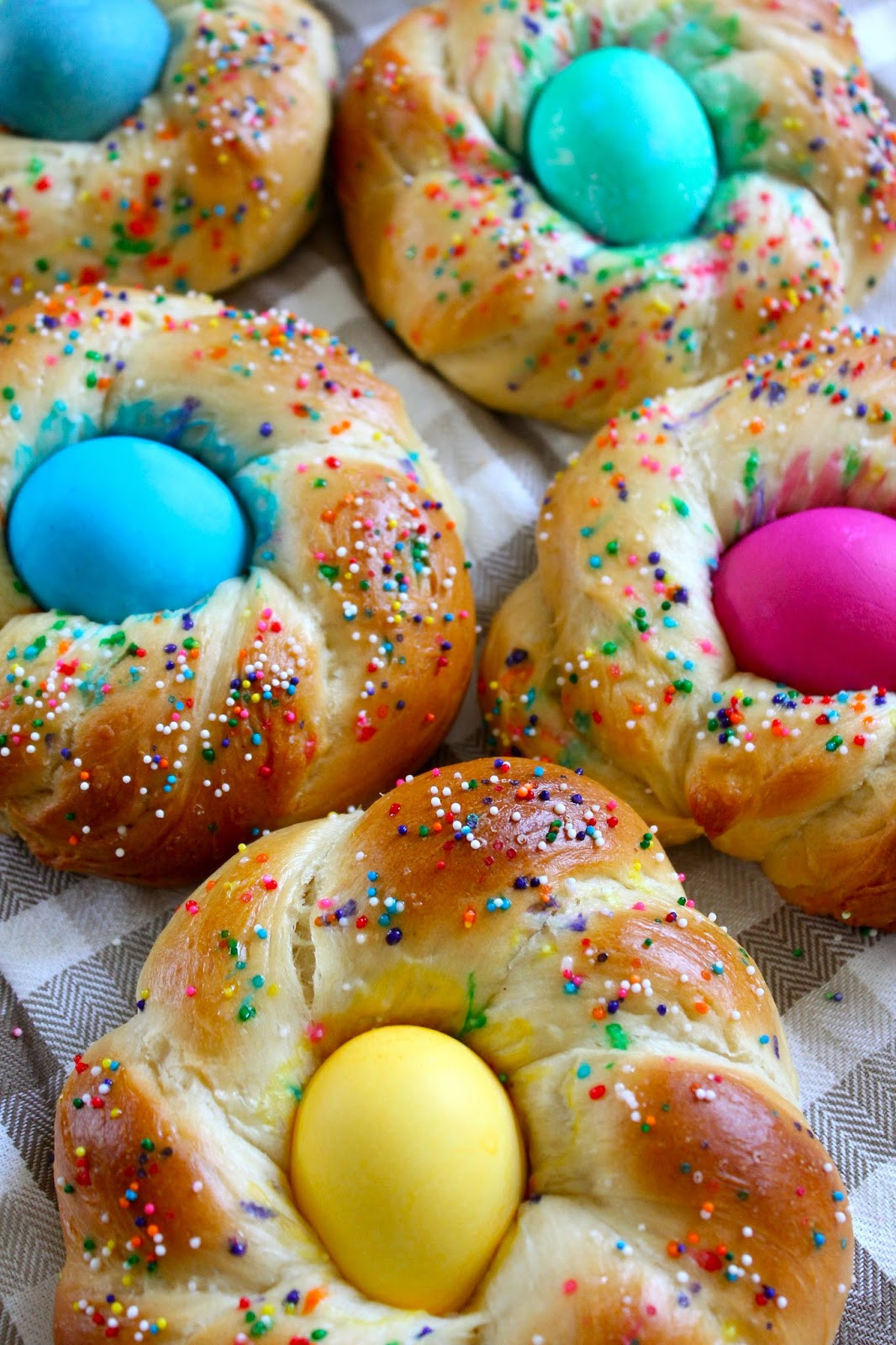 Easter Bread With Eggs  The Cultural Dish Recipe Italian Easter Egg Bread